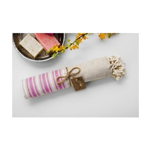 Hamam osuška Katre Pink, 100x180 cm