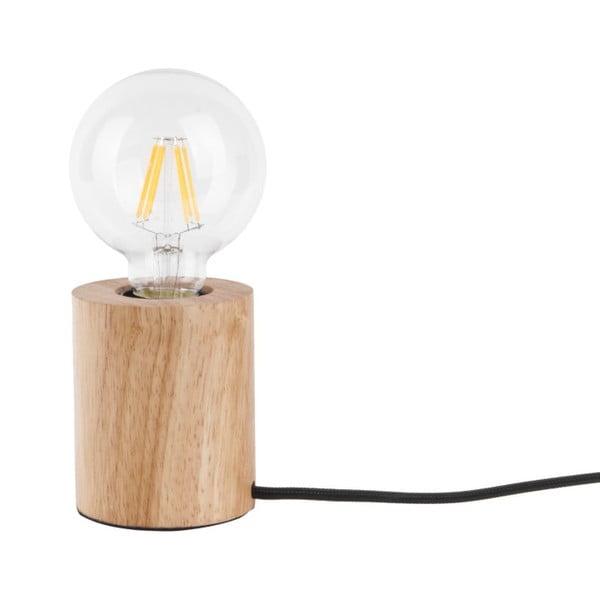 Stolní lampa s dřevěnou podstavou Leitmotiv Bar