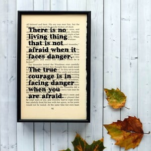 Plakát v dřevěném rámu Wizard of Oz Danger