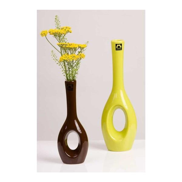 Váza Garonna 26 cm, hnědá