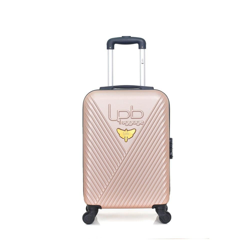 Béžové zavazadlo na 4 kolečkách LPB Francis, 31l