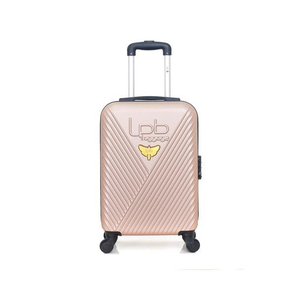 Beżowa walizka z 4 kółkami LPB Francis, 31 l