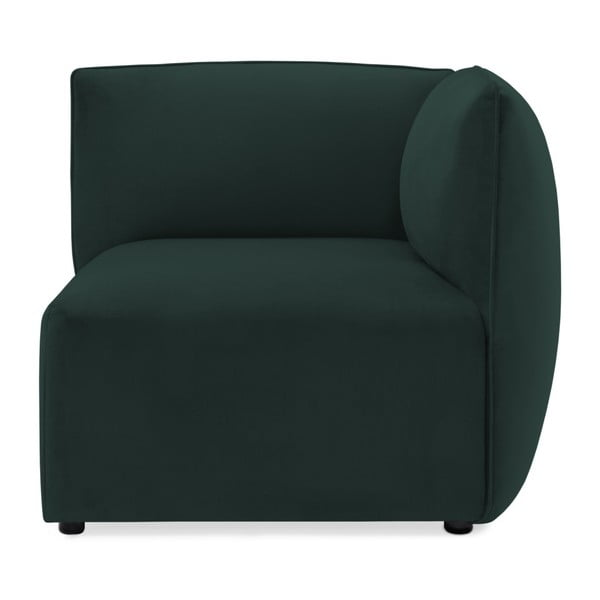 Tmavě zelená třímístná modulová pohovka Vivonita Velvet Cube
