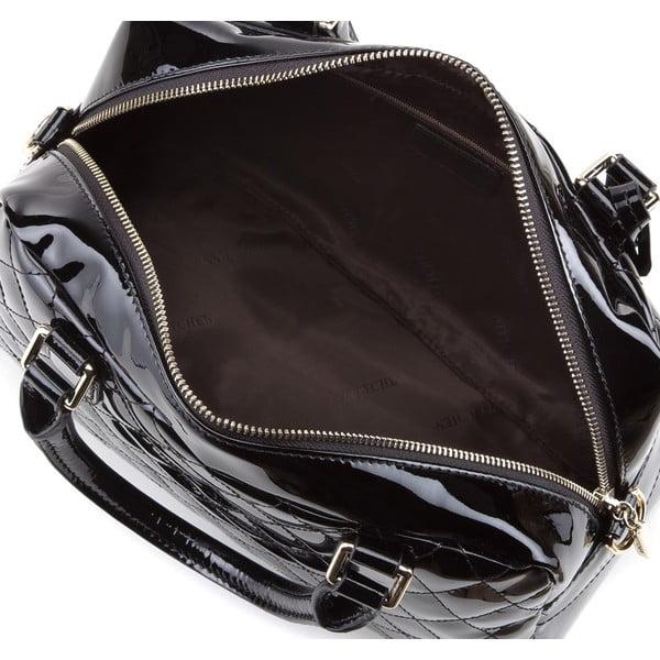 Kožená kabelka Elegance Padded Shiny Black