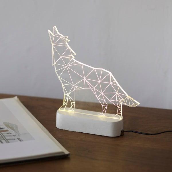 Náladové světlo Wolf, bílý podstavec