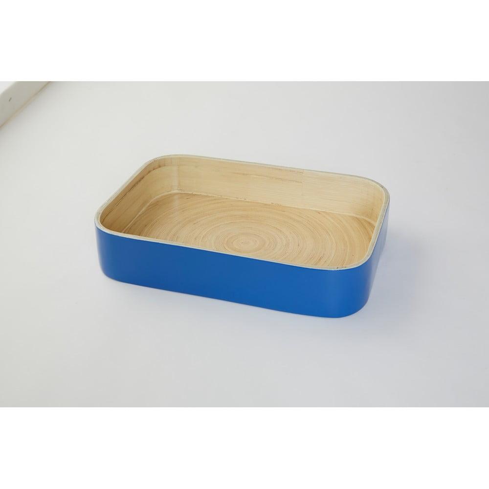 Bambusový podnos Compactor Bamboo Blue, 31 x 22 cm