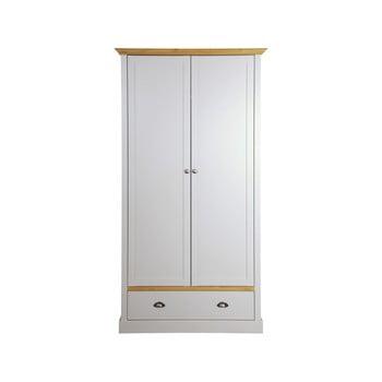 Dulap Steens Sandringham, 192 x 104 cm, gri – alb de la Steens
