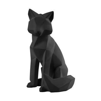 Statuetă PT LIVING Origami Fox, înălțime 26 cm, negru mat