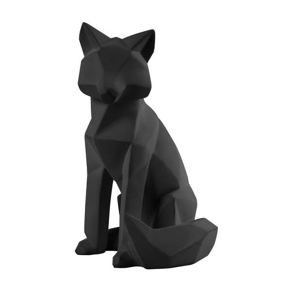 Matně černá soška PT LIVING Origami Fox, výška26cm