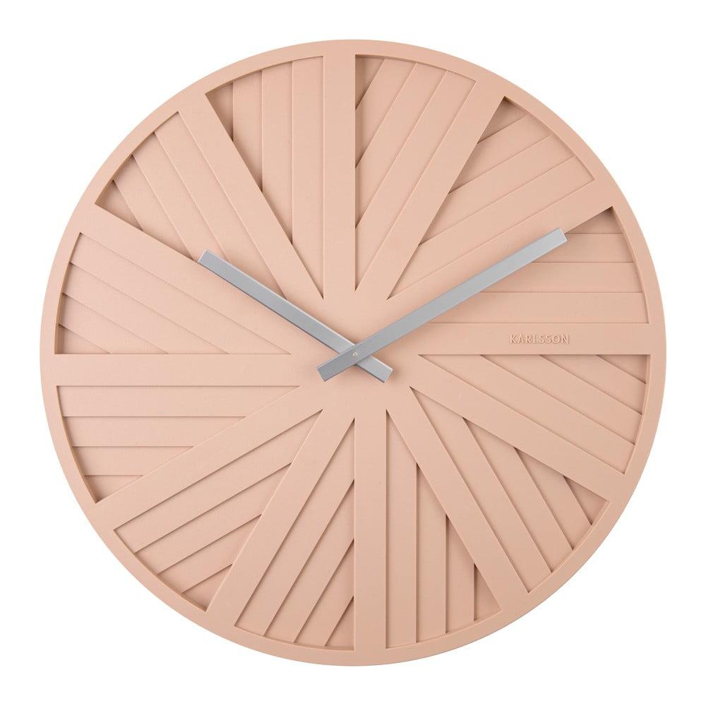 Pískově hnědé nástěnné hodiny Karlsson Slides, ø 40 cm