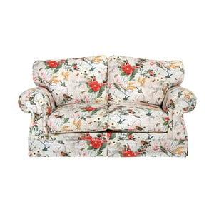 Canapea 2 locuri, înflorată, Max Winzer Mina, roșu-alb