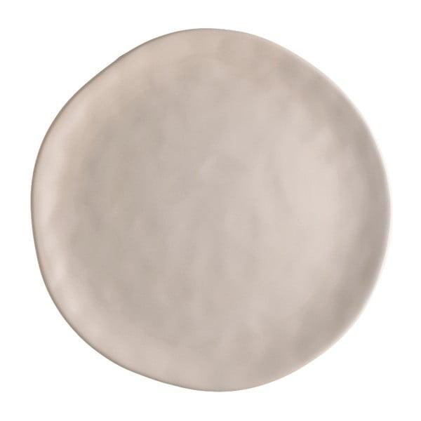 Beżowy talerz porcelanowy na pizzę Brandani Pizza, ⌀ 26 cm