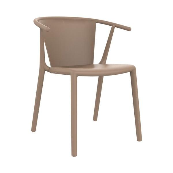 Sada 2 pískově hnědých zahradních židlí Resol Steely