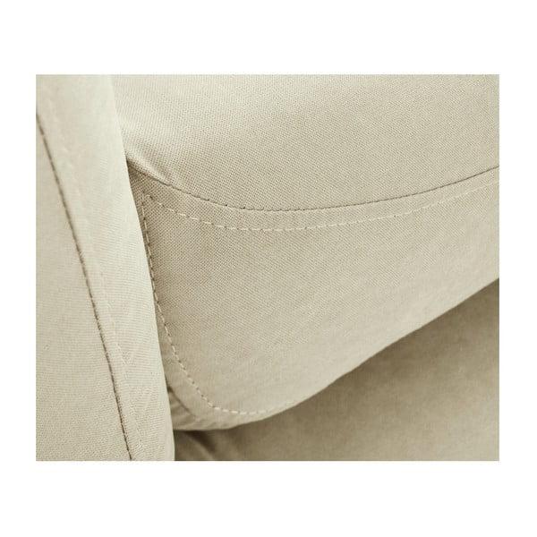 Canapea șezlong cu cotieră pe partea stângă Scandi by Stella Cadente Maison Constellation, crem