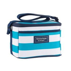 Světle modrá pruhovaná chladicí taška Navigate