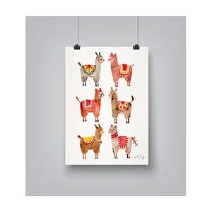 Plakát Americanflat Alpacas, 30x42cm