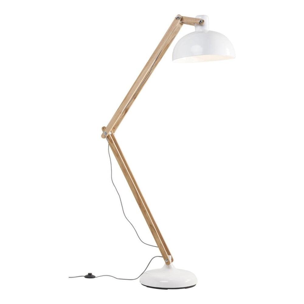 Stojací lampa s bílým stínidlem Kare Design Work Station
