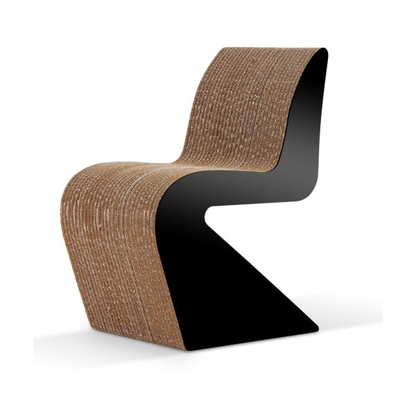 Kartonová židle Amanda Black