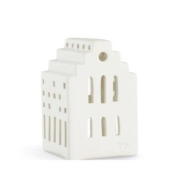 Felinar din ceramică Kähler Design Long Church, înălțime 10 cm, alb