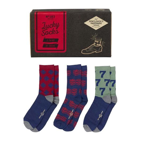 Sada 3 párů ponožek Gentlemen's Hardware Lucky Socks, velikost 41-45
