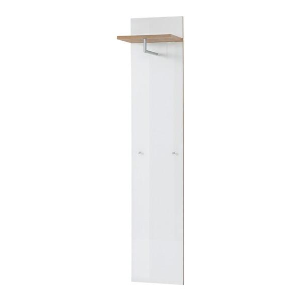 Bílý nástěnný věšák Germania Telde, 39 x 190 cm