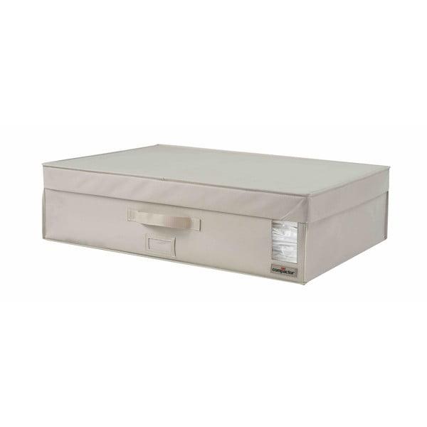 Béžový úložný box na oblečenie Compactor XXL Family, 72 x 19 cm