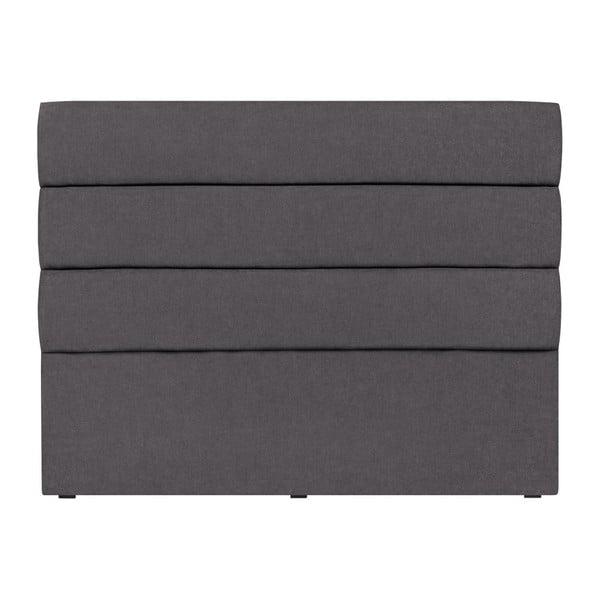 Tmavě šedé čelo postele Mazzini Sofas Pesaro, 200 x 120 cm
