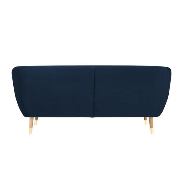 Canapea cu 3 locuri Mazzini Sofas Amelie, albastru închis