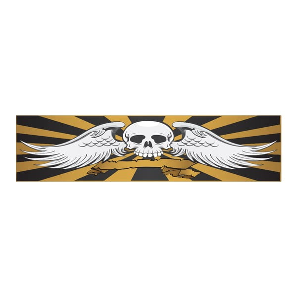Postel Karup Eagle Black/Scull,  140x200 cm