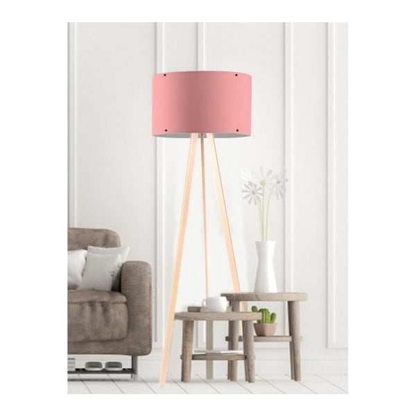 Světle růžová stojací lampa Simple