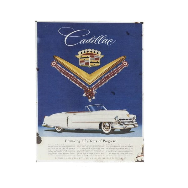 Nástěnná cedule Novita Cadillac, 30x40cm