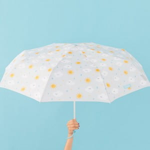 Umbrelă Mr. Wonderful Cloudy, lățime 108 cm, gri