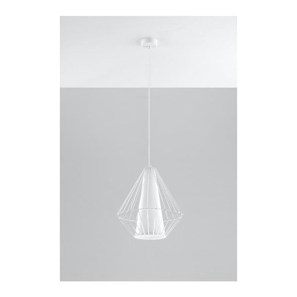 Bílé závěsné svítidlo Nice Lamps Alfredo