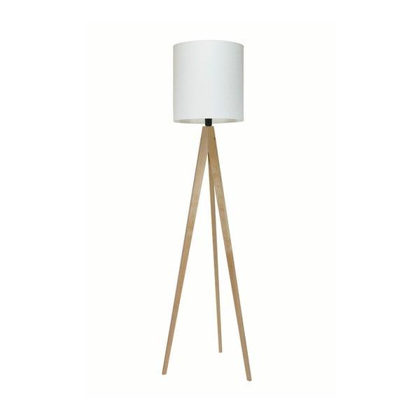 Bílá stojací lampa 4room Artist, bříza, 158 cm