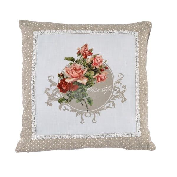 Polštář Beige Roses, 45x45 cm