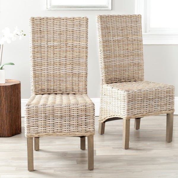 Sada 2 ratanových židlí Safavieh Pembroke