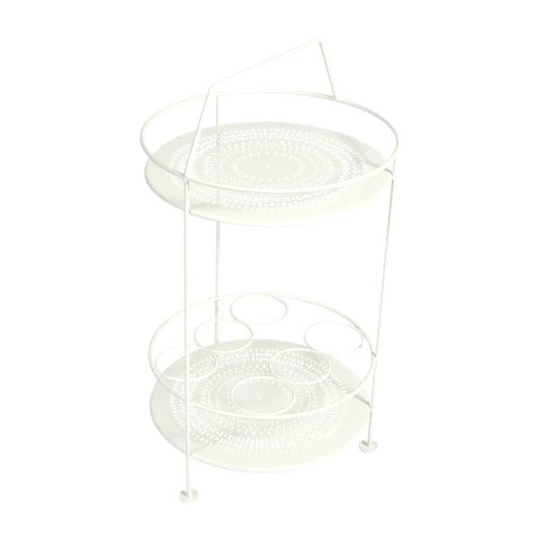 Bílý zahradní barový stolek Fermob Montmartre, ⌀ 40 cm