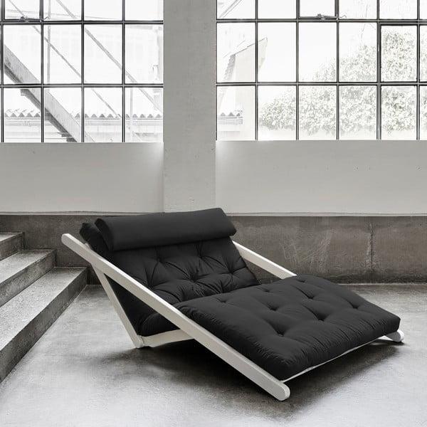 Dvoumístná variabilní lenoška Karup Design Figo White/Dark Grey