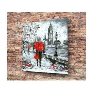 Skleněný obraz 3D Art Romance On Streets, 30x30cm