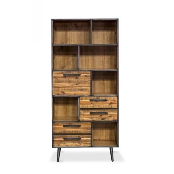 Knihovna z masivního akáciového dřeva Massive Home Robbie, 100 x 200 cm