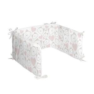 Textilní ohrádka do postýlky Happynois Kitty, 210 x 40 cm