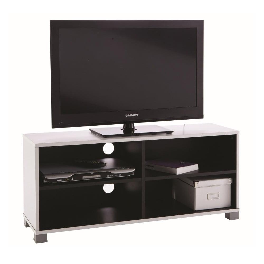 Bíločerný TV stolek Grafit