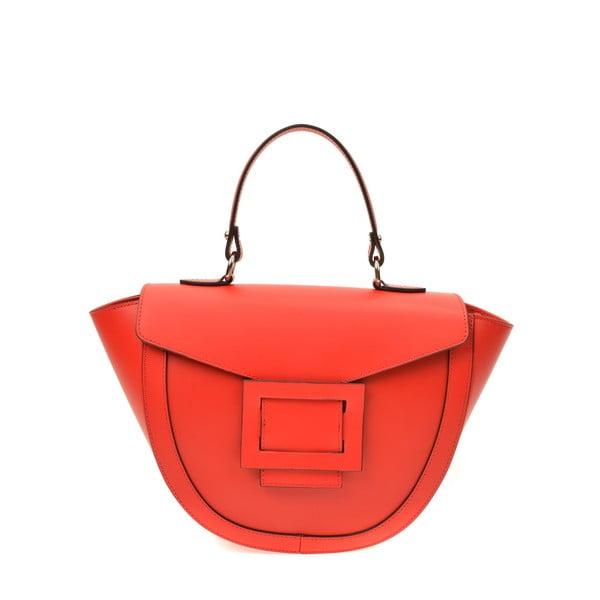 Červená kožená kabelka Luisa Vannini Luna