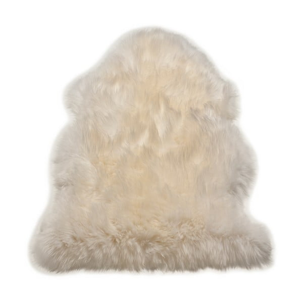 Koberec Single Sheepskin White, 100x100 cm