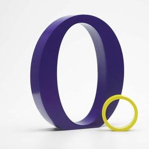 """Velké """"O"""" 17x14 cm, fialová"""