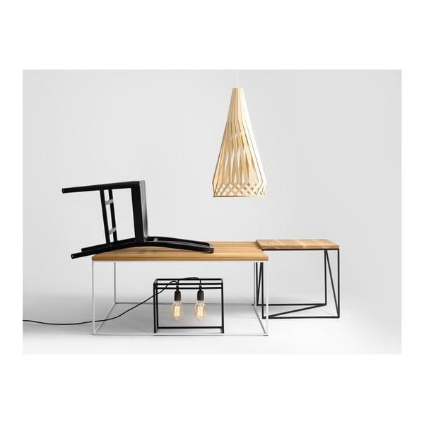 Konferenční stolek s bílou konstrukcí a deskou v dekoru dubového dřeva Custom Form Tensio, délka100cm