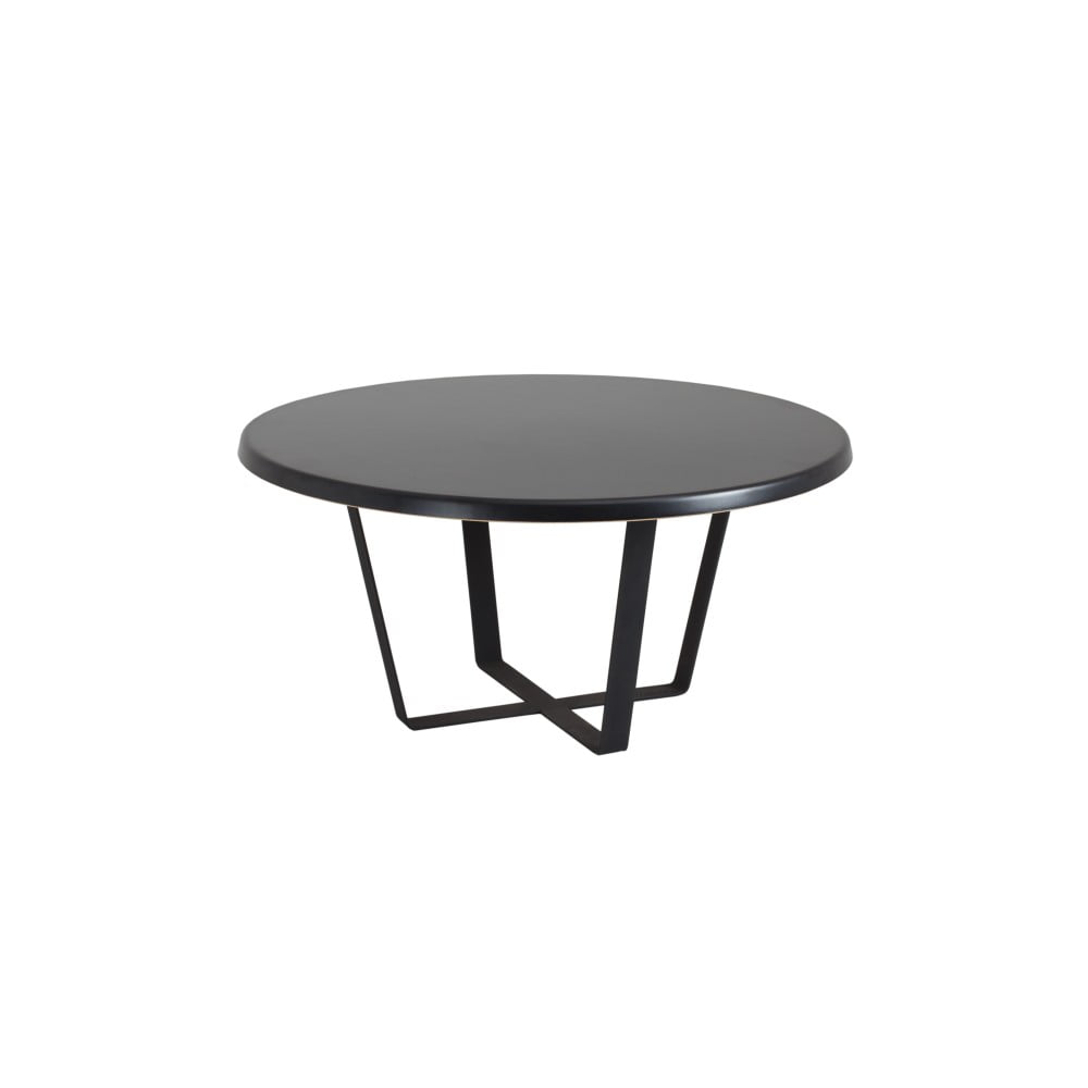 Černý konferenční stolek Custom Form Mapple, průměr 80 cm