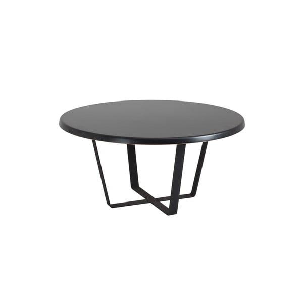 Černý konferenční stolek Custom Form Mapple, průměr80cm