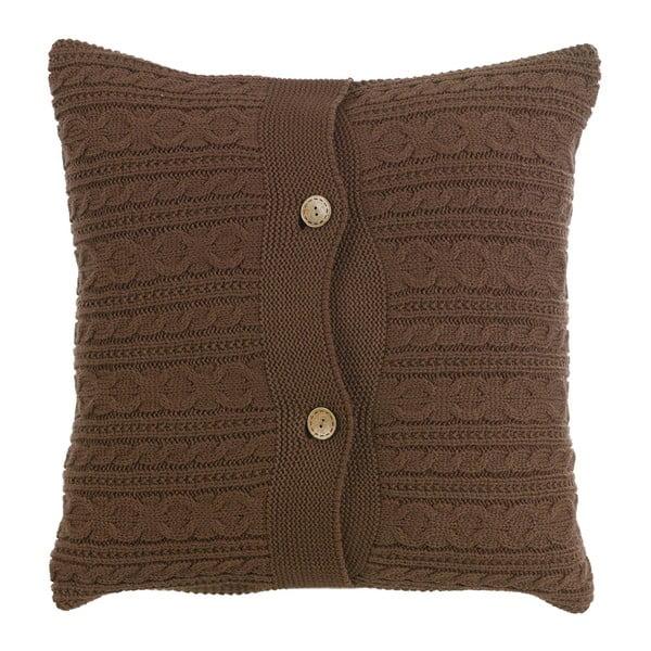 Pletený polštář s náplní Chocolate