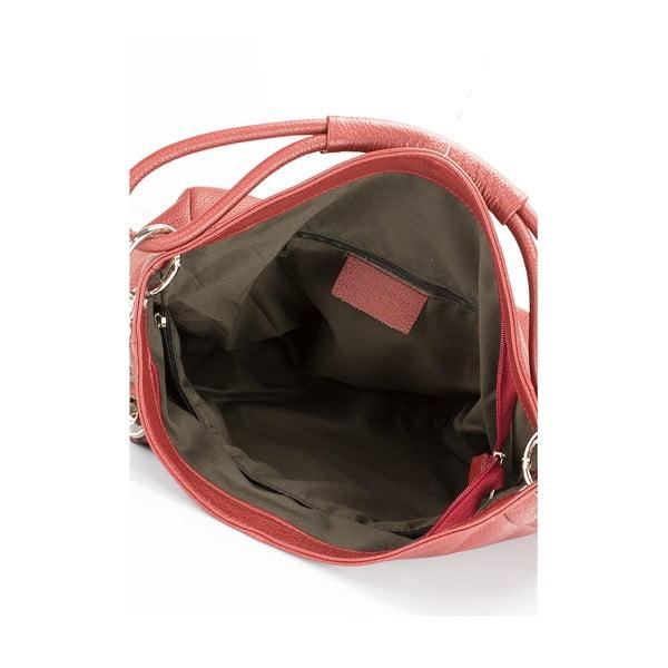 Vínová kožená kabelka Lisa Minardi Herta